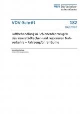 VDV-Schrift 182 Luftbehandlung in Schienenfahrzeugen [eBook]