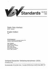 VÖV-Schrift 04.05.05 Radio Data Interface (BON Version) [Print)
