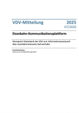 VDV-Mitteilung 2025 Eisenbahn-Kommunikationsplattform [eBook]