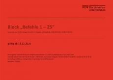 Block Befehle 1-25 Vordrucke nach FV-NE Anlage 10