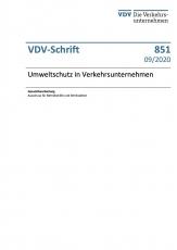 VDV-Schrift 851 Umweltschutz in Verkehrsunternehmen [Print]