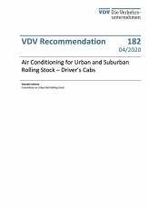 VDV-Schrift 182 Air Cinditioning for Urban and Suburban Rolling Stock - Drivers Cabs [Print]