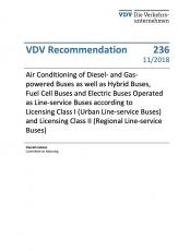 VDV-Recommendation 236 Air Conditioning of Buses according to Licensing Class I [eBook]