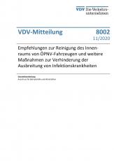 VDV-Mitteilung 8002 Empfehlung zur Reinigung des Innenraumes von ÖPNV-Fahrzeugen und weiter Maßnahmen...[eBook]