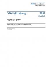 VDV-Mitteilung 7051 WLAN im ÖPNV – Mehrwert für Kunden und Unternehmen [eBook]