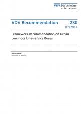 VDV-Schrift 230 Framework Recommendation on Urban Low-floor Line-service Buses [Print]