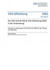 VDV-Mitteilung 4401:Die VDV-Schrift 440 & VDV-Mitteilung 4400 in der Anwendung – Hinweise zur Nutzung der VDV 440 & VDV 4400 [PDF]