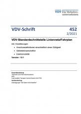 VDV-Schrift 452 VDV-Standardschnittstelle Liniennetz/Fahrplan inkl. Erweiterungen [Print]