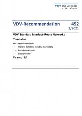 VDV-Recommendation 452 VDV Standard Interface Route Network / Timetable [Print]
