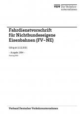 Ergänzungslieferung FV-NE B21 zur Fahrdienstvorschrift für nichtbundeseigene Eisenbahnen [Print]