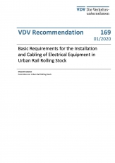 VDV-Schrift 169 Basic Requirements - Installation Electrical Equipment in Urban Rail Stock [Print]