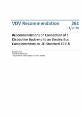 VDV-Schrift 261Recommendations on Connection of Dispositive Back-end to an ......[Print]