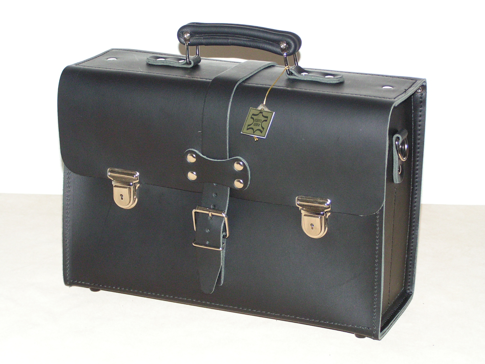 Fahrertasche Nr. 803 Rindleder schwarz
