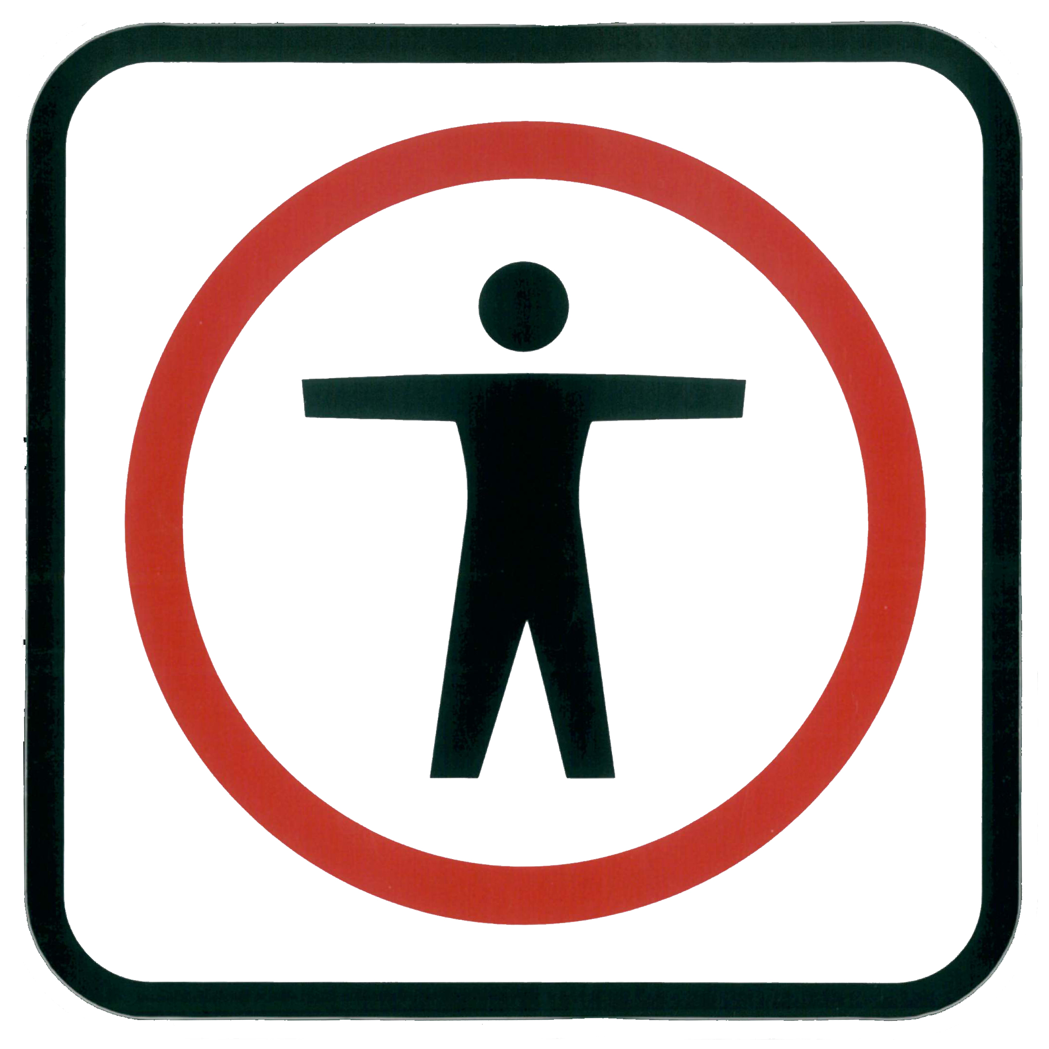 Piktogramm V20370: Sperrzeichen