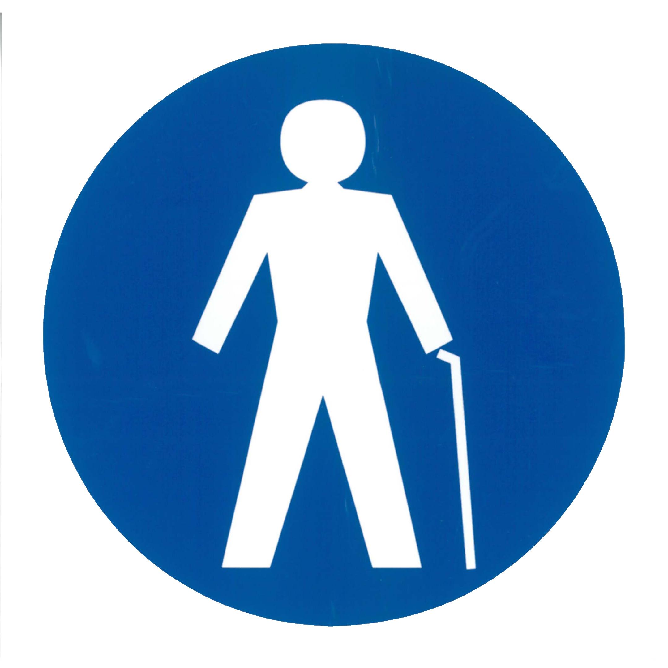 Piktogramm V20405B: Mann mit Stock