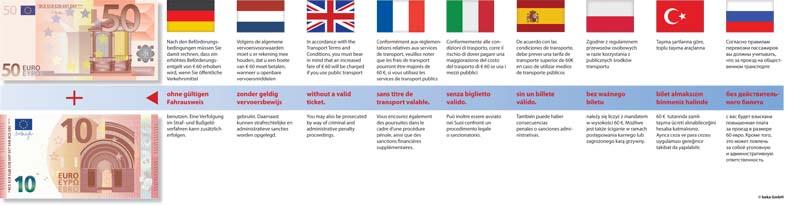 Piktogramm V20501: Mehrsprachenpaket - Fahrgeldhinterziehung