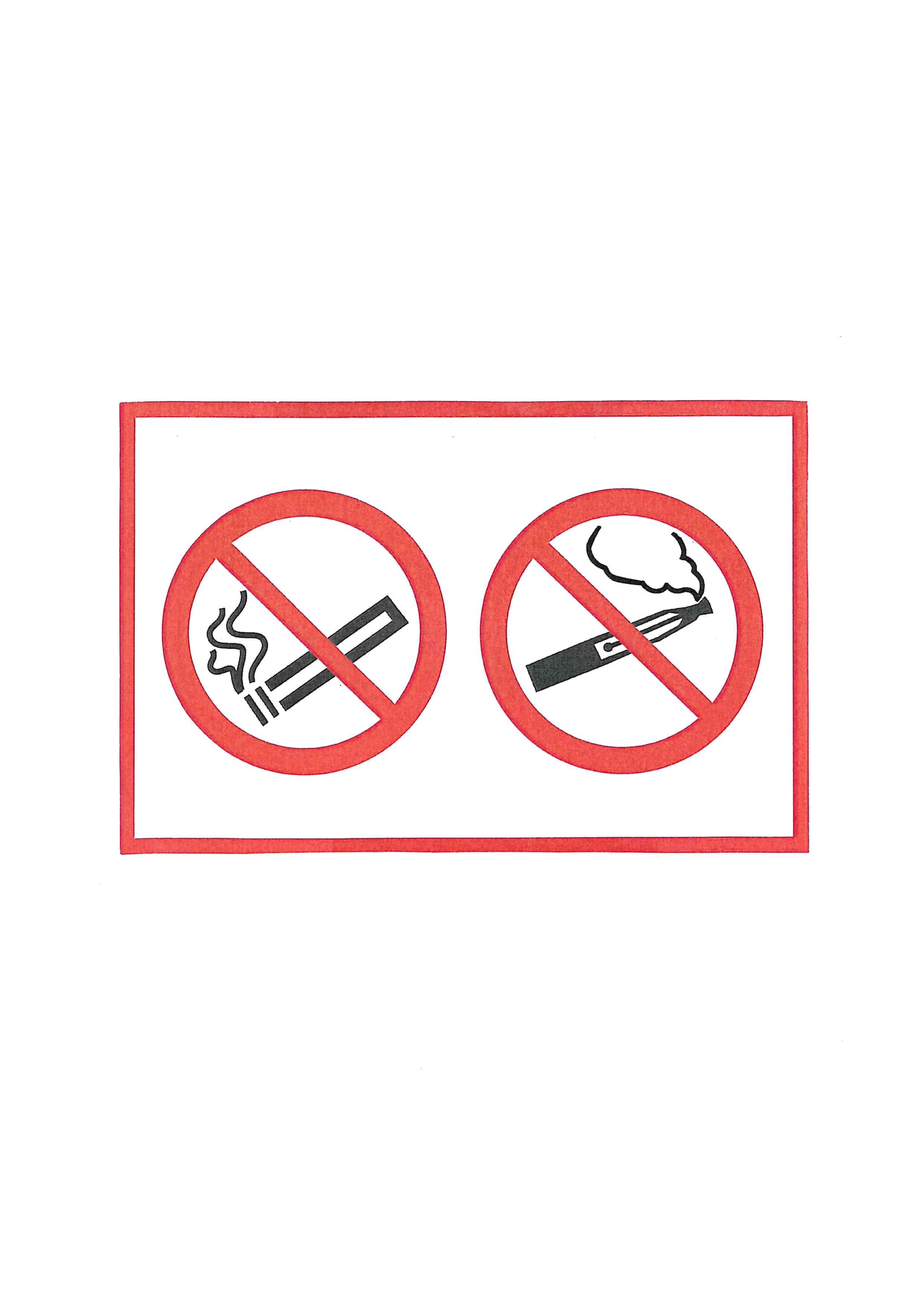Piktogramm V20780: Rauchverbot und Verbot für elektrische Zigaretten