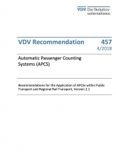 VDV-Schrift 457 Automatic Passenger Counting Systems (APCS)  [PDF Datei]