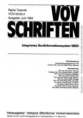 VÖV-Schrift 04.05.4 [300] Integriertes Bordinformationssystem  (IBIS) [Print]