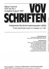 VÖV 04.05.4 Integriertes Bordinformationssystem, Änderung / Ergänzung zur Ausgabe 1984 [eBook]