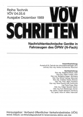 VÖV-Schrift 04.05.6 Nachrichtentechnische Geräte in Fahrzeugen des ÖPNV (N-Fach) [Print]