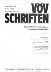 VÖV-Schrift 04.06.1 Technische Anforderungen an Haltestellenansagegeräte [Print]