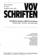 VÖV-Schrift 8.65 Anti-Blockier-System (ABS) für Omnibusse [PDF Datei]