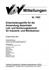 VDV-Mitteilung 7503 Entscheidungshilfen für die Anwendung dezentraler .... [Print]
