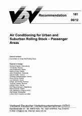 VDV-Schrift 181 Air Conditioning for Urban and Suburban Rolling Stock - Passanger Areas [eBook]