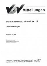 VDV-Mitteilung 9510 EG-Binnenmarkt aktuell Nr. 10: Dienstleistungen [eBook]