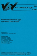 VDV-Schrift 156 Recommendation of Type - Low Floor Tram Trailer [Print]