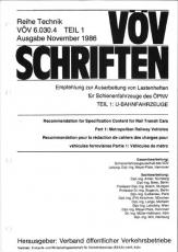 VÖV-Schrift 6.030.4 Empfehlung z. Ausarbeitung v. Lastenheften f. Schienenfahrzeuge des ÖPNV [Print]