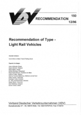 VDV-Schrift 150 Recommendation of Type Light Rail Vehicles [eBook]