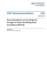 VDV-Schrift 152 Recommendations of the Design of Strength of Urban Rail Rolling Stock [PDF Datei]