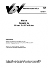 VDV-Schrift 154 Noise Caused by Urban Rail Vehicles [eBook]
