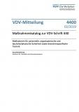 VDV-Mitteilung  4400 Maßnahmenkatalog zur VDV-Schrift 440 [PDF Datei]