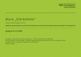 Block ZLB-Befehle Vordrucke nach FV-NE Anlage 11