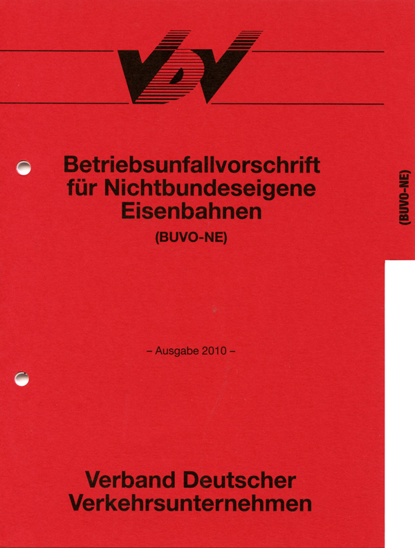 BUVO - Betriebsunfallvorschrift NE - vereinfachte Betriebsunfallvorschrift [Print]