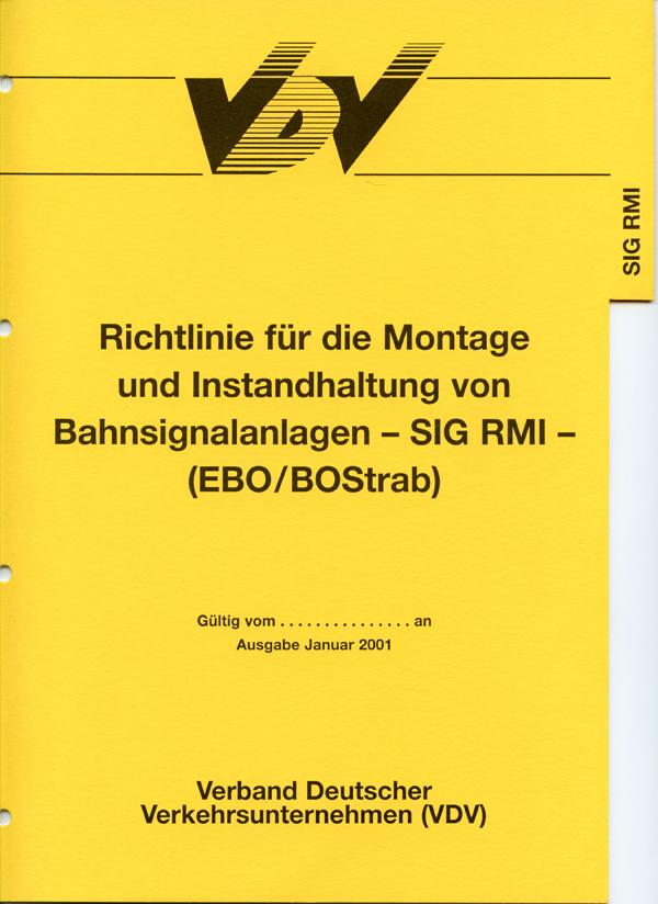 SIG RMI - Richtlinie für die Montage und Instandhaltung von Bahnanlagen [Print]