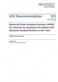 VDV-Schrift 191E Advanced Driver Assistance Systems (ADAS) for Tramcars for Avoidance of Collision....[eBook]