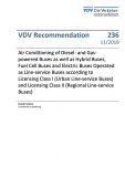 VDV-Recommendation 236 Air Conditioning of Buses according to Licensing Class I [Print]