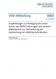 VDV-Mitteilung 8002 Empfehlung zur Reinigung des Innenraumes von ÖPNV-Fahrzeugen und weiter Maßnahmen...[Print]
