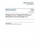 VDV-Schrift 724 Piktogramme zur Fahrgastinformation an Haltestellen und in Fahrzeugen V1.1 [Print]