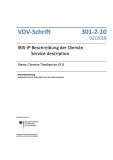 VDV-Schrift 301-2-10 IBIS-IP Beschreibung der Dienste /  Dienst / Service TimeService V1.0 [PDF Datei]