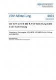 VDV-Mitteilung 4401:Die VDV-Schrift 440 & VDV-Mitteilung 4400 in der Anwendung – Hinweise zur Nutzung der VDV 440 & VDV 4400 [Print]