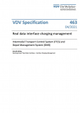 VDV Specification 463 Interface to the charging management- depot management & ITCS [Print]