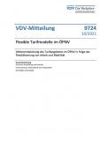 VDV-Mitteilung Nr. 9724: Flexible Tarifmodelle im ÖPNV [PDF]