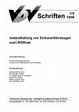 VDV-Schrift 170 Instandhaltung von Schienenfahrzeugen nach BOStrab [Print]