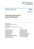 VDV-Schrift 203 Anforderungskatalog für Regionalbetriebwagen [Print]