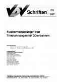 VDV-Schrift 211 Funkfernsteuerung von Triebfahrzeugen für Güterbahnen [eBook]
